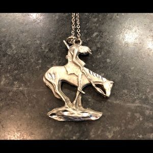 Trail of tears sterling Silver necklace pendant